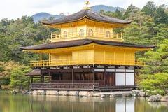 De Tempel van Kinkakuji Stock Afbeeldingen