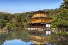 De Tempel van Kinkakuji Royalty-vrije Stock Fotografie