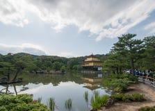 De Tempel van Kinkakuji in Kyoto, Japan stock foto