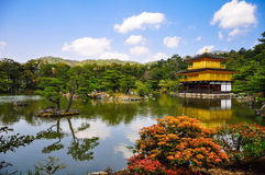 De Tempel van Kinkakuji in Kyoto, Japan Royalty-vrije Stock Foto's