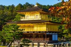 De Tempel van Kinkakuji in Kyoto, Japan Stock Afbeelding