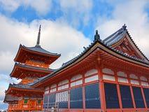De tempel van Kiyomizu stock afbeeldingen