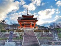 De tempel van Kiyomizu stock foto