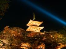 De tempel van Kiyomizu Stock Afbeelding