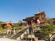 De tempel van Kiyomizu Royalty-vrije Stock Foto's