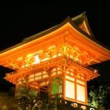 De tempel van Kiyomizu royalty-vrije stock afbeelding