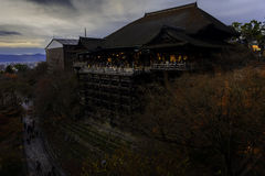 De Tempel van kiyomizu-Dera Royalty-vrije Stock Foto