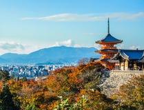 De Tempel van kiyomizu-Dera stock fotografie