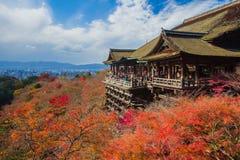 De tempel van Kiyomizudera in Kyoto Japan Stock Foto