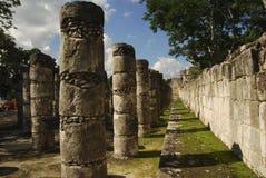 De Tempel van kolommen van de Mayan Strijders Royalty-vrije Stock Afbeeldingen