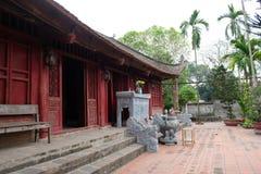 De tempel van koningsAn Duong Vuong in Co Loa Citadel, Vietnam Royalty-vrije Stock Foto