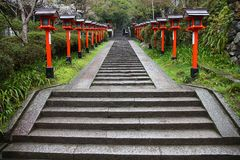 De Tempel van Kurama, Kyoto royalty-vrije stock afbeeldingen