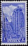 De Tempel van Lingaraja, Bhuvanesvara Stock Foto's