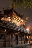 De tempel van Longshan in Taipeh Stock Foto