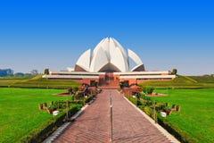 De Tempel van Lotus, India royalty-vrije stock afbeelding