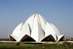 De Tempel van Lotus in New Delhi, India Stock Afbeelding
