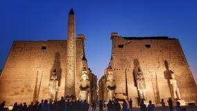 De tempel van Luxor bij nacht royalty-vrije stock afbeelding