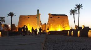 De Tempel van Luxor, Egypte Stock Foto