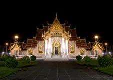 De Tempel van Mable bij nacht Royalty-vrije Stock Foto's