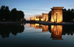 De Tempel van Madrid Debod Stock Afbeelding
