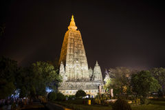 De tempel van Mahabodhi Royalty-vrije Stock Afbeeldingen