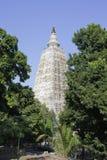 De Tempel van Mahabodhi in Bodhgaya, Stock Fotografie