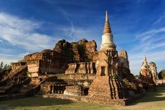 De Tempel van Mahathat van Wat, Ayutthaya Stock Foto's