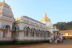 De tempel van Mangueshi van Shri in Goa stock foto's