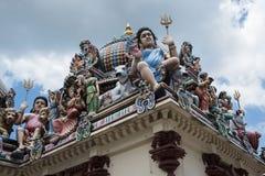 De Tempel van Mariamman van Sri, Singapore stock foto