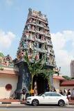 De Tempel van Mariamman van Sri - Singapore Stock Afbeeldingen