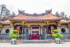 De Tempel van Mengjialongshan, Taipeh, Taiwan Stock Fotografie