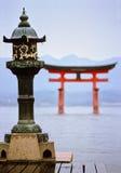 De tempel van Miyajima Stock Afbeeldingen