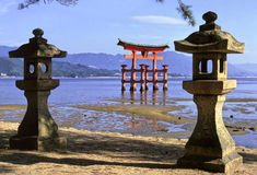 De tempel van Miyajima Stock Fotografie
