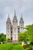 De Tempel van Mormonen in Salt Lake City, UT Stock Foto