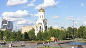 De Tempel van Moskou van St George Zegevierend op Poklonnaya Hil Royalty-vrije Stock Afbeeldingen