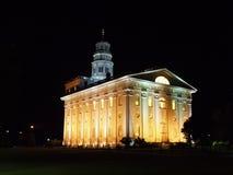 De Tempel van Nauvoo bij Nacht Stock Foto's