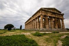 De Tempel van Neptunus, Paestum Stock Afbeeldingen