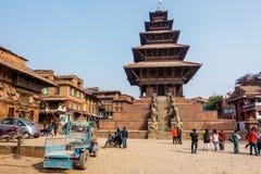 De Tempel van Nyatapola in Bhaktapur Stock Afbeeldingen