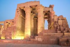 De tempel van Ombo van Kom, Egypte Royalty-vrije Stock Foto