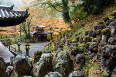 De Tempel van Otaginenbutsu -nenbutsu-ji, Kyoto, Japan Stock Fotografie
