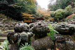 De Tempel van Otaginenbutsu -nenbutsu-ji, Kyoto, Japan Stock Foto