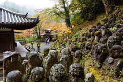 De Tempel van Otaginenbutsu -nenbutsu-ji, Kyoto, Japan Stock Afbeeldingen