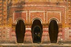 De Tempel van Pancharatnagovinda in Puthia, Bangladesh Stock Afbeelding