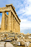 De tempel van Parthenon Stock Foto's