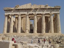 De tempel van Parthenon stock afbeeldingen
