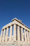 De tempel van Parthenon in Akropolis Stock Foto's