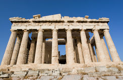 De tempel van Parthenon in Athene Royalty-vrije Stock Foto
