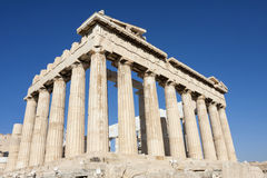 De tempel van Parthenon in Athene Stock Afbeeldingen