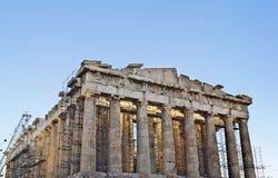 De tempel van Parthenon in Athene, Griekenland Royalty-vrije Stock Foto's