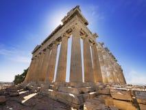 De tempel van Parthenon in Athene, Griekenland Royalty-vrije Stock Fotografie